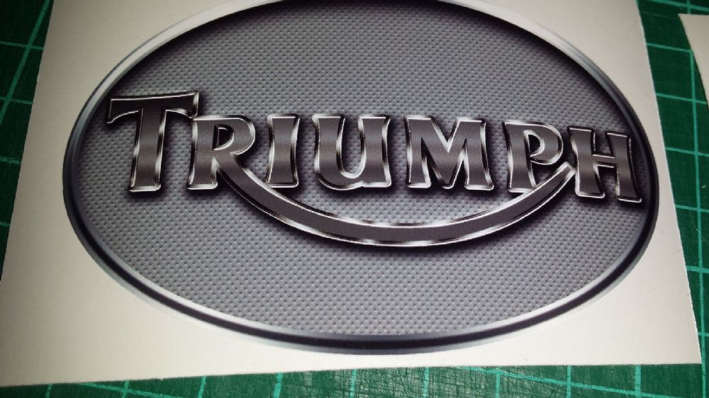 Triumph Perforated Metal Effect Tank Decals Stickers X4